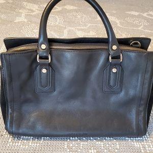 Halston Heritage black leather bag EUC